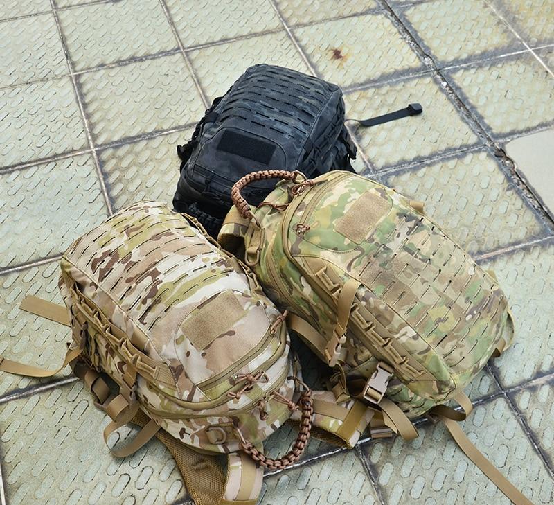 Sac à dos tactique découpé au Laser Molle PALS Multicam sac 25L sac de Sport sac à dos militaire randonnée sacs de plein air EDC engrenages tactiques