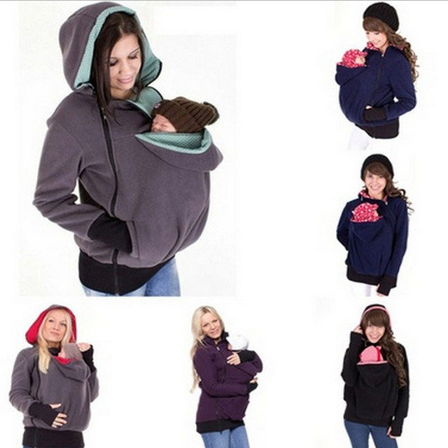 a8f0f58bc632 Baby Carrier Jacket Multifunctional Hoodies Maternity Baby Hoodies ...