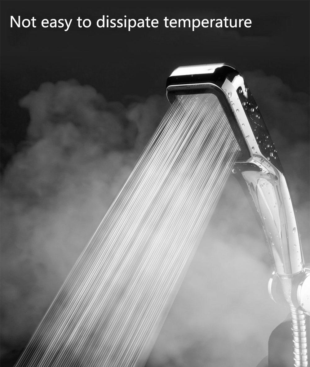 Rain Shower Head Water Saving Shower Head Stainless Steel 300 Hole Filter Spray Nozzle High Pressure Bathroom Hand Shower Head