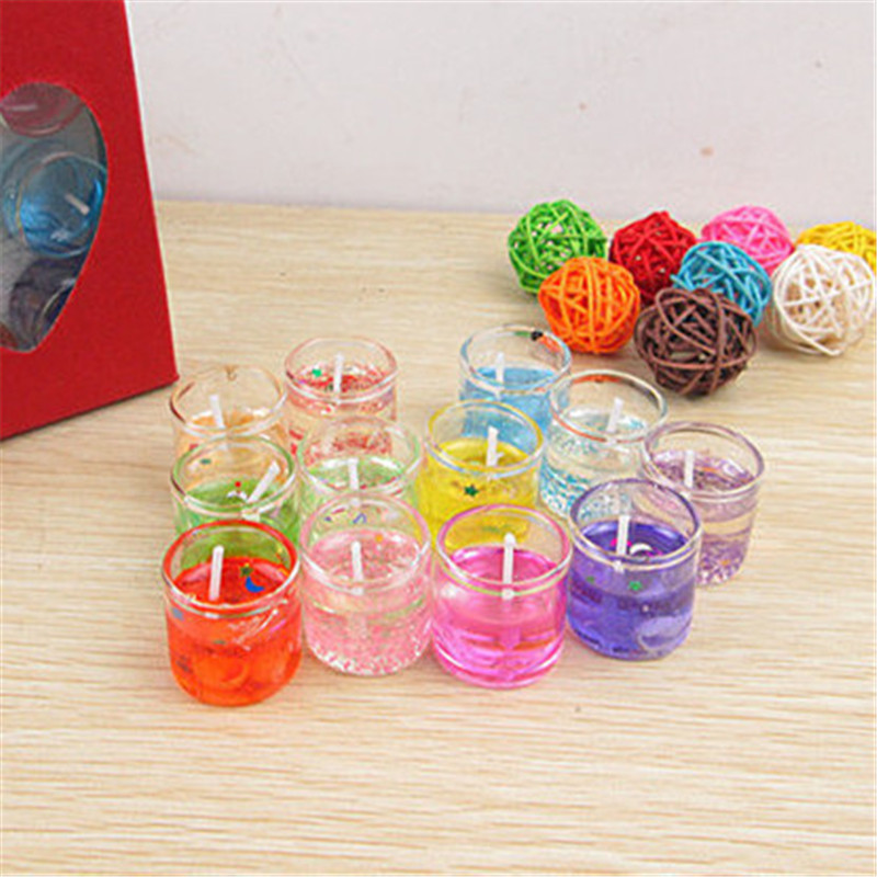 US $3 61 6% OFF|12pcs Romantic Glass Jelly Candles Mini Love Scented  Candles Gel Wax Party Wedding Decor Light Candles-in Party DIY Decorations  from