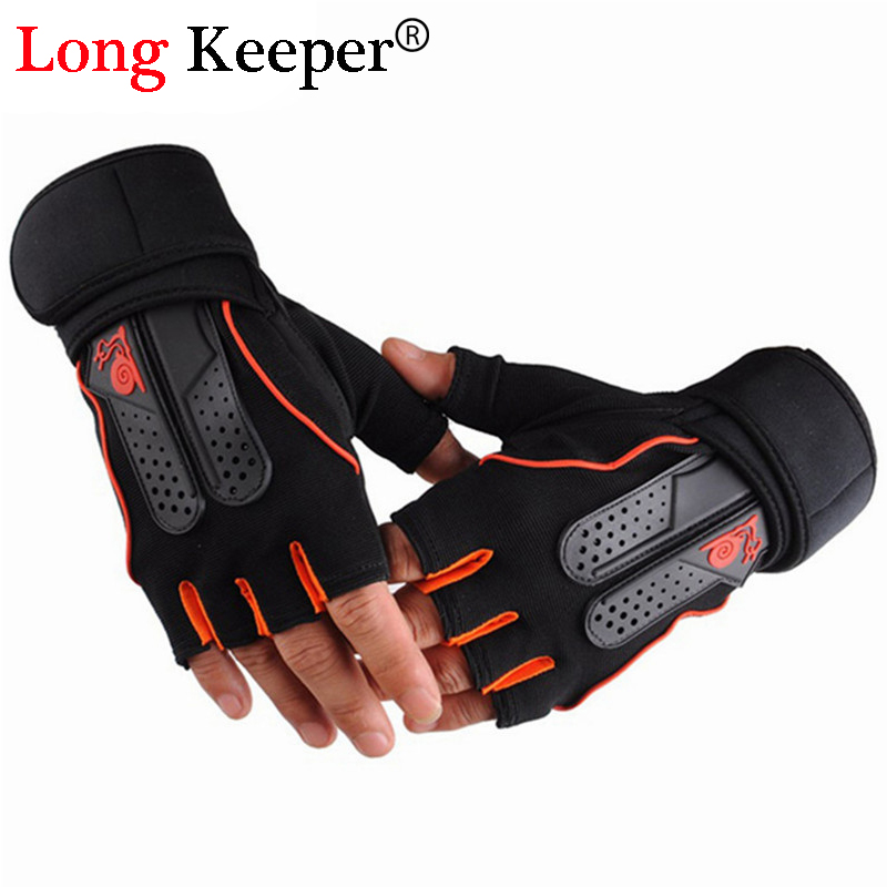 1 Fitness Gloves for Men Women High Quality Gym Gloves Fingerless Work Out Palm Wrist Protection Mittens Sport Luvas M127
