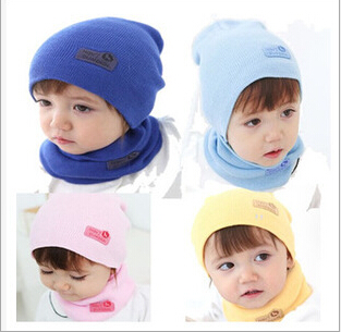 Kids Fashion Winter Cap Baby Girls/Boys Hat Warm Hat Children Hat and Scarf set 1set zea rtm0911 1 children s panda style super soft autumn winter wear cap scarf set blue