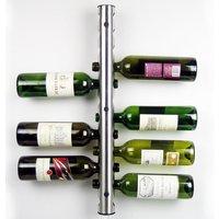 المنزل المطبخ بار المقاوم للصدأ النبيذ رف النبيذ حامل الحائط 12 زجاجات (00032)