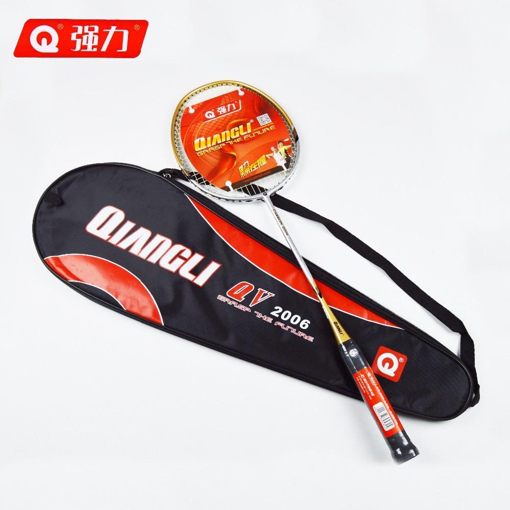 Authentic Qiangli2006 badminton racket Integrally molded badminton badminton rackets Carbon Fiber Grip raquette badminton