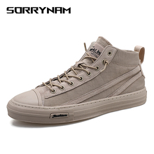 High Top Men Fashion Canvas Shoes Casual Sneakers Breathable Flat Vulcanize Walking Shoes Summer Lace-Up Shoes New Arrival new high quality men s vulcanize shoes breathable spring summer men casual canvas shoes slip on flat shallow men sneakers
