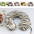 Free Shipping Novelty Plush Animal U-Shape Neck Pillow Rest Car Comfort Travel Pillows wholesale Retail