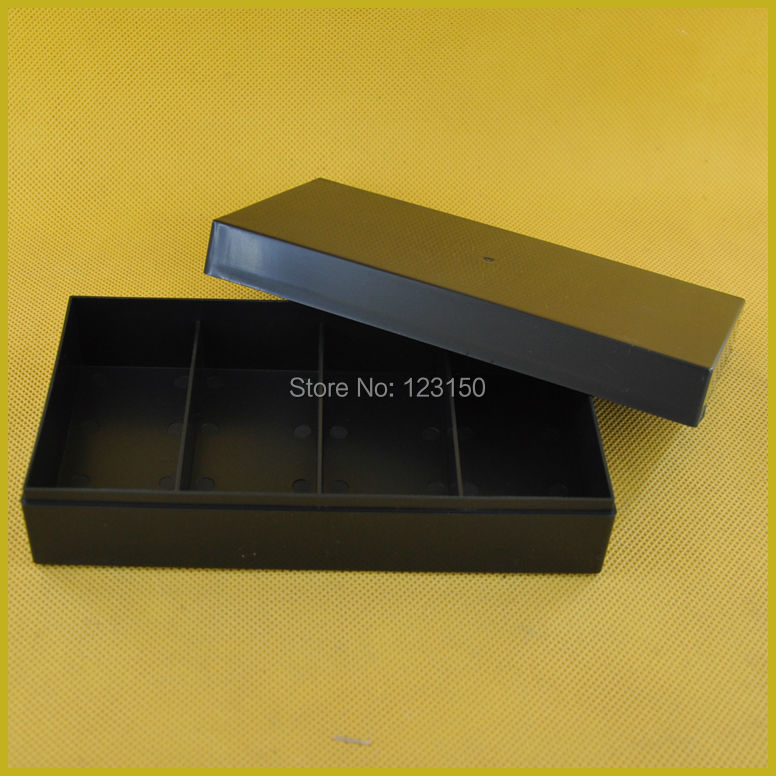 TA-116 Casino Accessories, black plastic chip box for holding 100pcs 40mm poker chip
