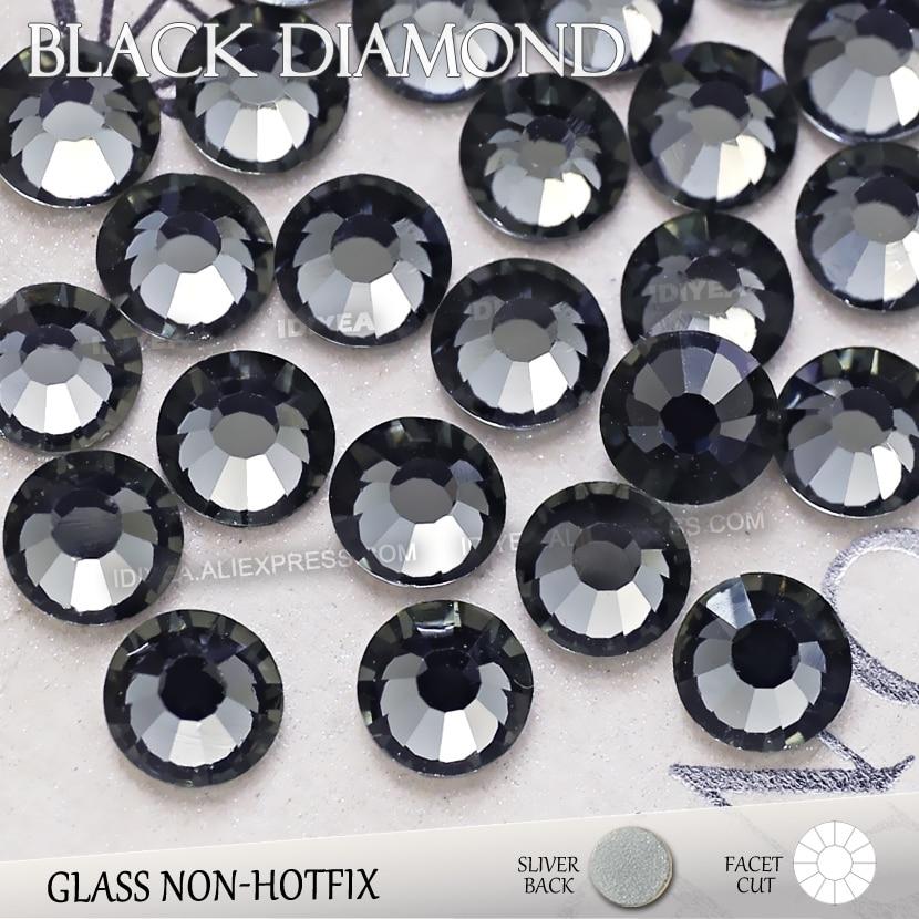 Black Diamond SS3 SS4 SS5 SS6 SS10 SS20 SS30 to DIY Nail Art Rhinestones  Glitter Crystals f3dde639af25