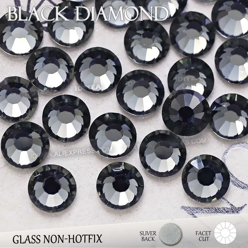 Detail Feedback Questions about Black Diamond SS3 SS4 SS5 SS6 SS10 SS20  SS30 to DIY Nail Art Rhinestones Glitter Crystals Jewelry Non HotFix stone  Decor ... 116be3de6d5c
