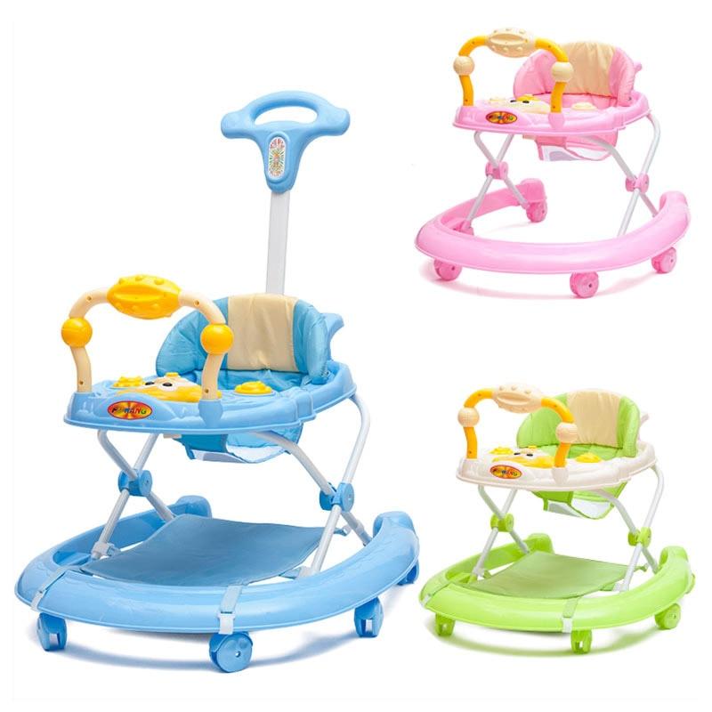 Infant Baby Walkers 5-level Adjustable Height Toddler Baby Activity Walkers with Wheels Activity Walker Car Walker Assistant Проектор