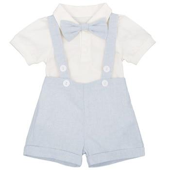 7114eed53 3 piezas conjunto lindo niños bebé tirantes Boxer pantalones mameluco  caballeros boda traje Formal traje de bebé ropa de bebé de cumpleaños