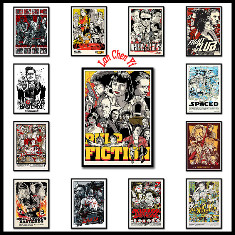 Quentin Tarantino Direct Uma Thurman Movie Pulp Fiction Kill Bill Reservoir Dog Inglourious Basterds Home Decoration image