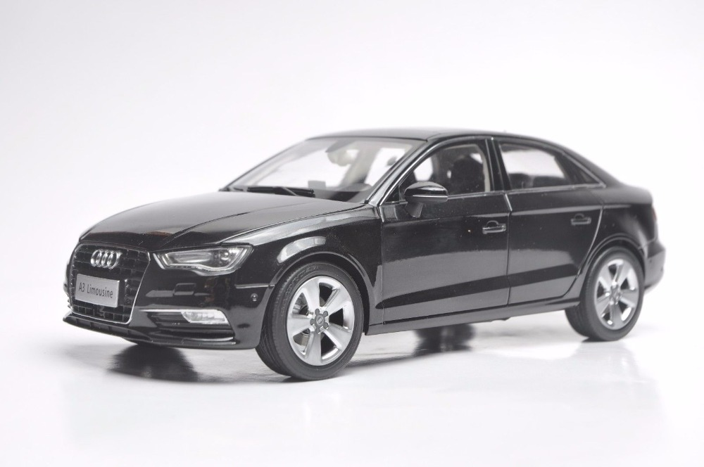 1:18 Diecast Model for <font><b>Audi</b></font> <font><b>A3</b></font> Limousine 2010 Black Sedan Alloy <font><b>Toy</b></font> <font><b>Car</b></font> Miniature Collection Gift S3 image