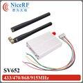 2 шт. 500 МВт 433 МГц Интерфейс RS485 Беспроводной RF модуль SV652 + 2 шт. Резиновая Антенна Для Бесплатная Доставка