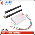 2pcs 500mW 433MHz RS485 Interface Wireless RF module SV652+ 2pcs Rubber Antenna For Free Shipping
