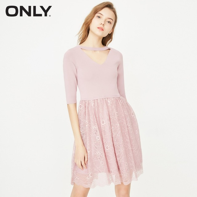ONLY Women's Elbow Sleeves Lace Dress|118146536