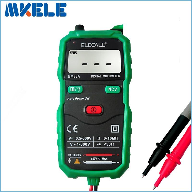 Mastech de diagnostic-outil multimetro Livraison gratuite Sans Contact Numérique Multimètre DC AC Tension Courant Testeur Avec Torche EM33A