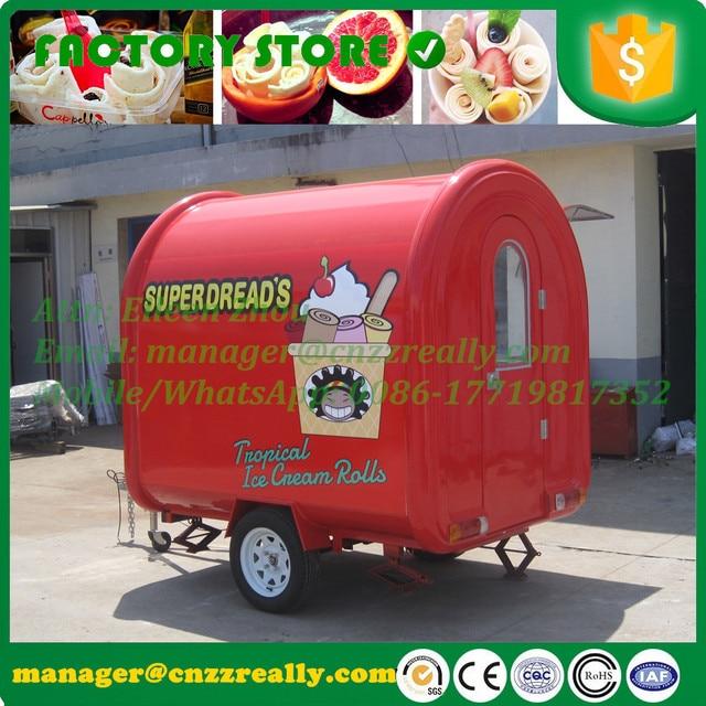 מרענן רחוב מזון עגלת אוטומטיות גלידה עגלת נייד מזון קיוסק למכירה עם JT-63