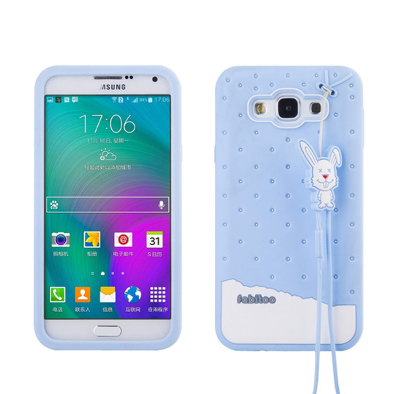 3D Luxury Soft Silicone Cute Case Samsung Galaxy E7 J7 On5 Original Brand Fabitoo Ice Cream Rubber Gel Black Cover  -  szhaiyu Store store