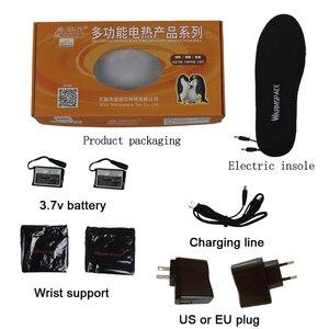 Image 5 - חורף 3.7V סוללה Electrice מדרסים מחומם נטענת חורף לשמור חם רגל רפידות גברים נשים חשמלי מחומם נעל הכנס