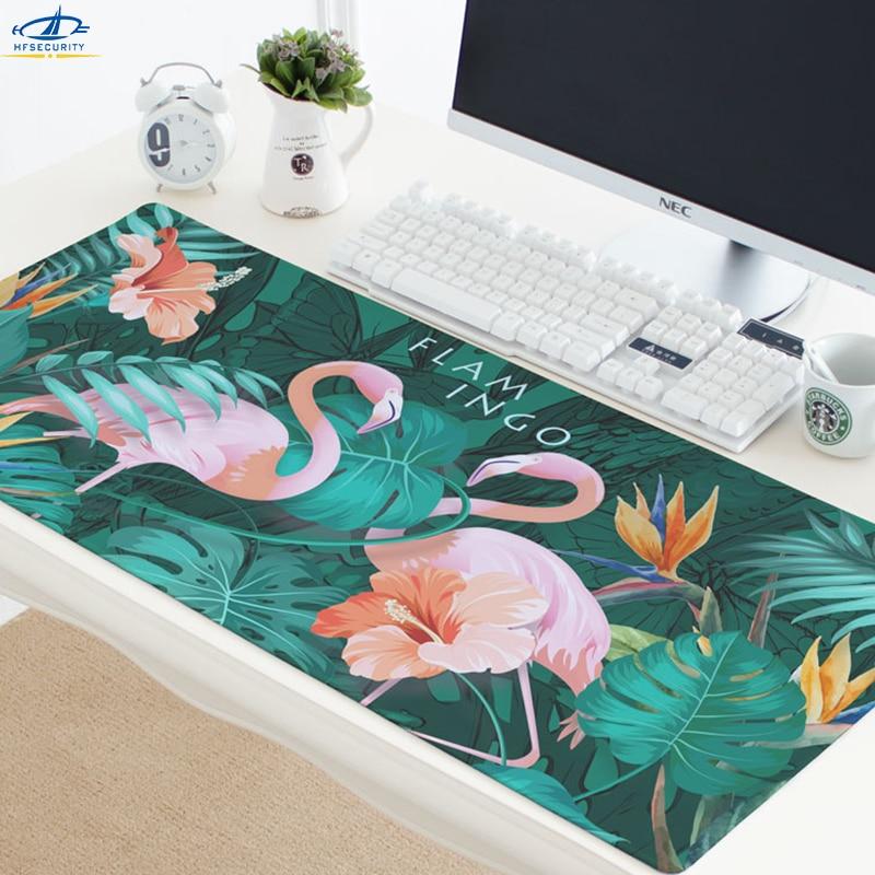 Mousepad pink flamingo desk mat surface waterproof anti-slip table mouse pad