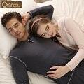 Couple Pajamas Sets Spring Cotton Long Sleeve Women Men Sleepwear Nightwear Pyjamas Home Lounge T-shirt & Bottoms for Women