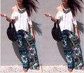 New Summer Exuma Palazzo pants Female Flare Boho Summer Elastic High Waist Pants 22