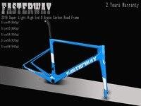Тайваньский бренд FASTERWAY классический темно синий набор углеродных дорожных Рам UD ткань карбоновая велосипедная Рама: рамка + подседельный ш