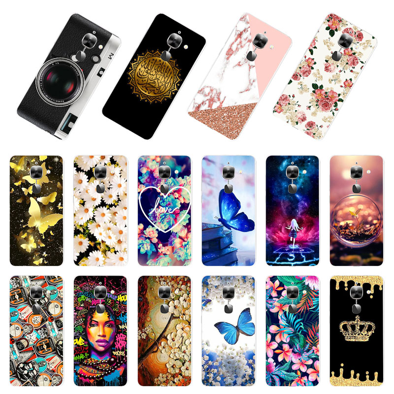 Phone Case For LeEco Le 2 Pro Cases Silicone Animal Flower Bumper For LeEco Le S3 x622 X626 X620 X621 X526 X527 Cover Fundas