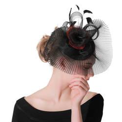 Вечерние церкви вводной перо Цветочный головные уборы красный большой kenducky Дерби fascinators Женские королевские шляпы элегантный для девушек