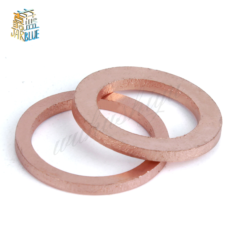 50Pcs DIN7603 M5 M6 M8 M10 M12 M14 T3 Copper Sealing Washer For Boat Crush Washer Flat Seal Ring Fitting HW15150Pcs DIN7603 M5 M6 M8 M10 M12 M14 T3 Copper Sealing Washer For Boat Crush Washer Flat Seal Ring Fitting HW151