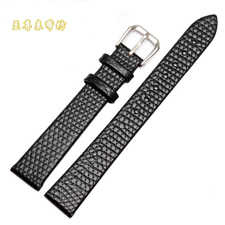 Watchband wholesale Small size Leather Watch Band Strap Bracelet for women watch kids watch accessories Black