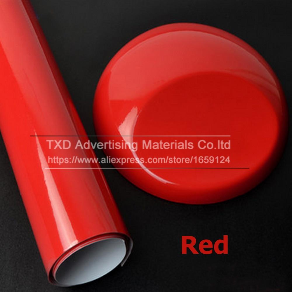 10/20/30/40/50/60x152CM Glossy red Vinyl Car Wrap Sticker Glossy Film Wrap Vinyl For HOOD Roof Red glossy car wrap film