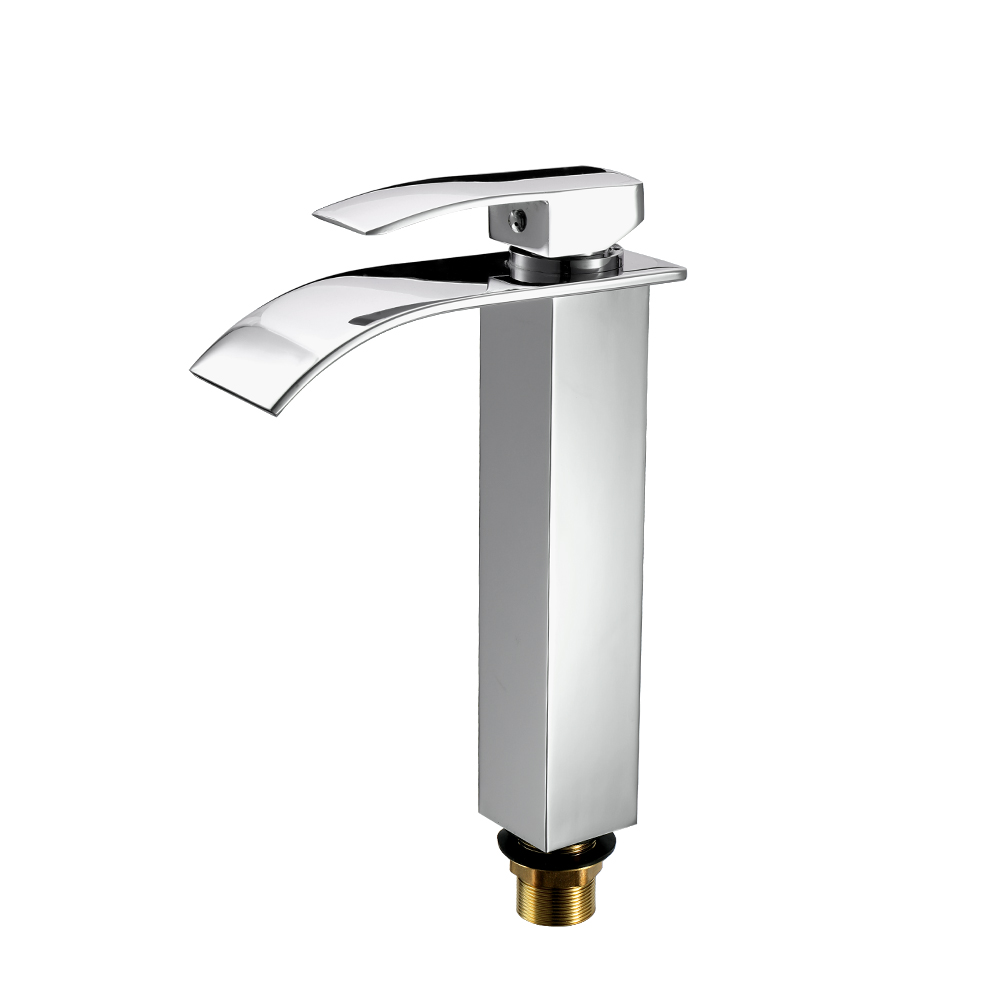 Deck Mounted Square Vessel Bathroom Basin Water Faucet Hot and Cold Crane Basin Tap Waterfall Faucets automatic sensor deck mounted bathroom waterfall faucet for cold and hot faucet tap new