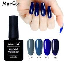 MorCat Gel Nail Polish Blue Series for Ocean Art Design Navy UV Varnish Soak Off Vernis Semi Permanent