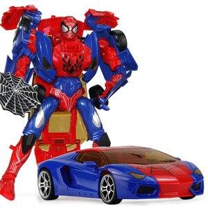 Image 4 - 26 cm 높이 변형 변형 영웅 로봇 장난감 거미 모델 액션 피규어 완구