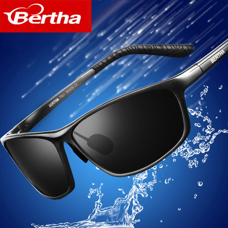 Bertha 2018 New Fashion Driving Polarized Sunglasses for Men Unbreakable-aluminum Frame 3230