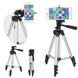 Image 2 - ארבעה רצפת גבוהה מקצועי אלומיניום חצובה Stand מחזיק + טלפון מחזיק + ניילון לשאת תיק עבור iPhone X 8 סמסונג smartphone