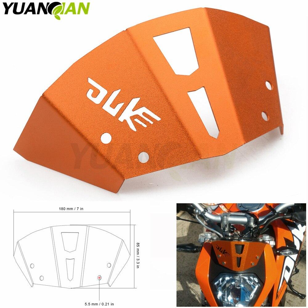 Motorcycle Aluminum Motorbike Windshield Windscreen For KTM Duke 125 200 390 Duke Adjustable Risen Clear Windshield Wind Screen motorcycle winshield windscreen for ktm duke 125 200 390 duke125 duke200 duke390