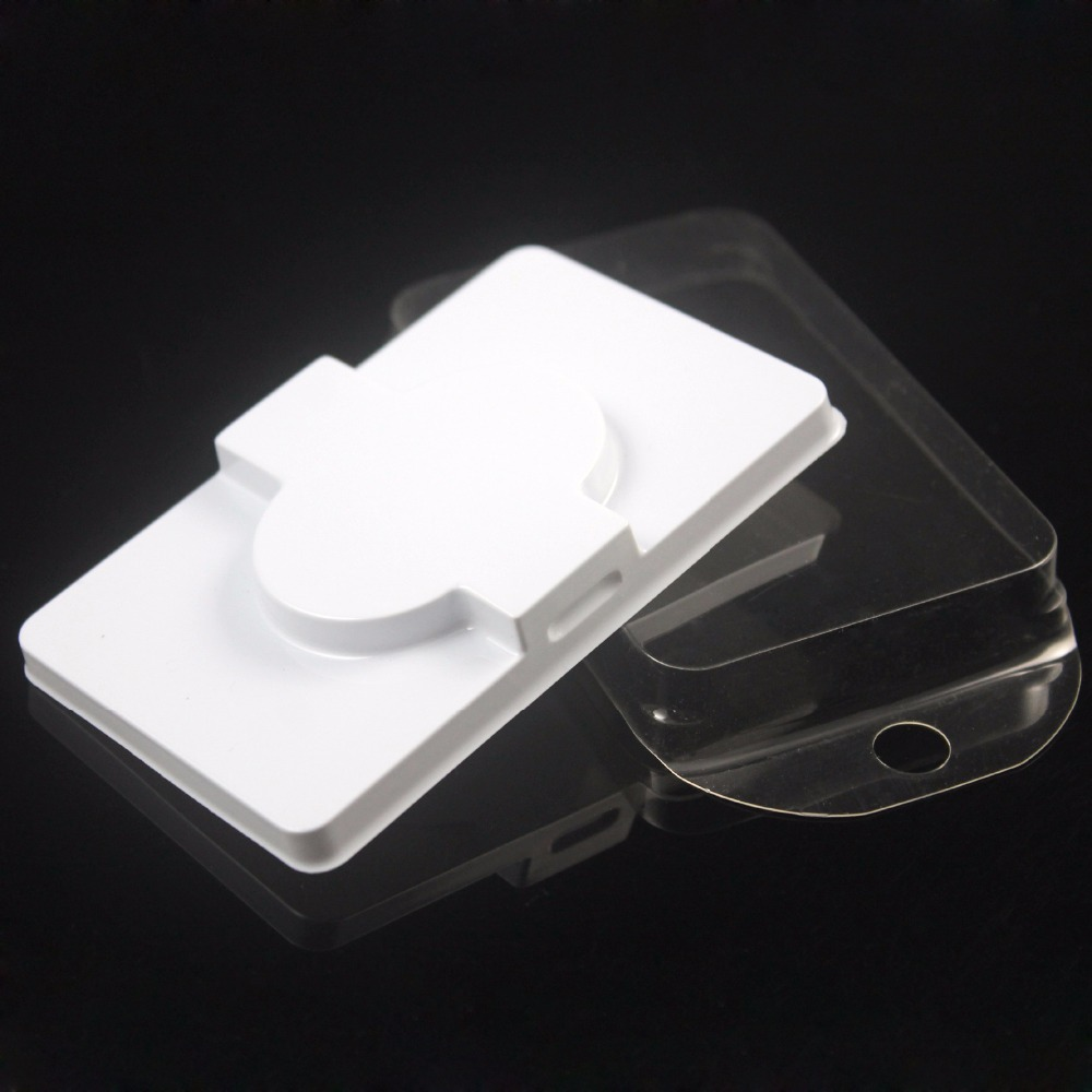 Packing box for eyelash blank eyelashes plastic packaging transparent lid white tray wholesales 100sets lot