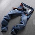 Nuevo Estilo de verano Para Hombre Jeans Skinny Jeans Hombres Hombres Runway Slim fit Biker Jeans Strech Jeans Para Hombres de negocios