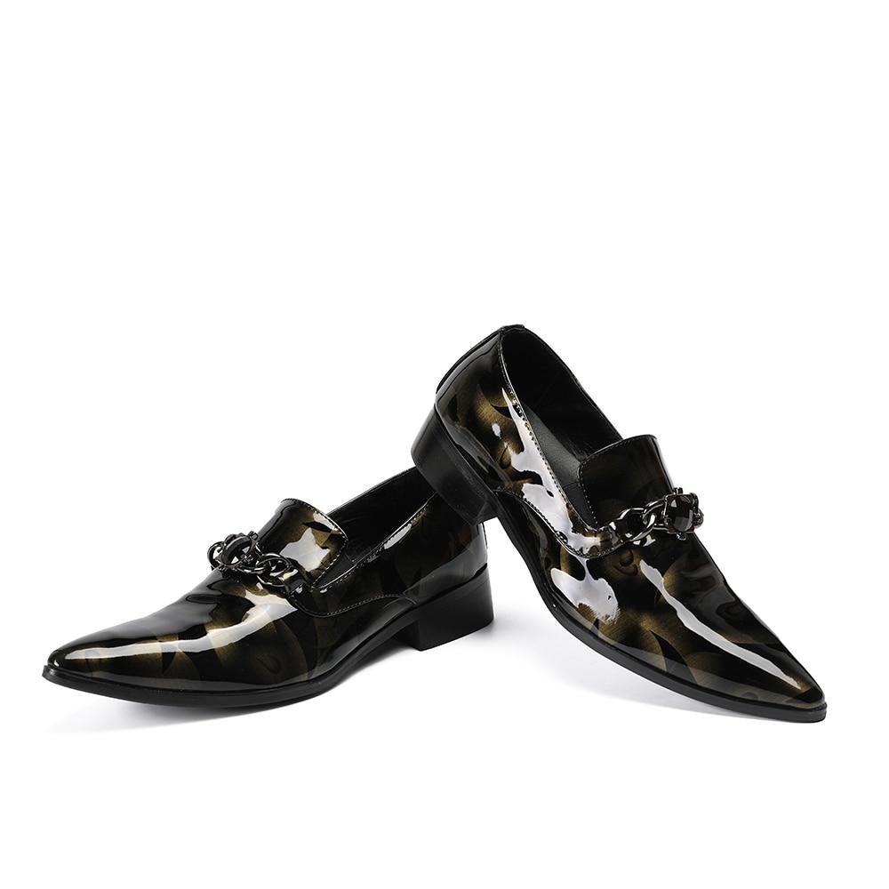 Flats Picture Escritório Slipon Size47 Toe Picture Cadeias Genuíno Homens Sapatos As Zobairou Apontou as Dos Patent Bussiness Prom Couro Loafers d7qHWTyCZy