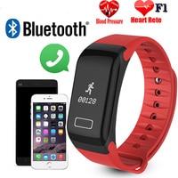 Bumvor original F1 Smart pulsera impermeable reloj deportivo pulsera inteligente recordatorio de llamada paso del pulso del corazón Monitores prohibición