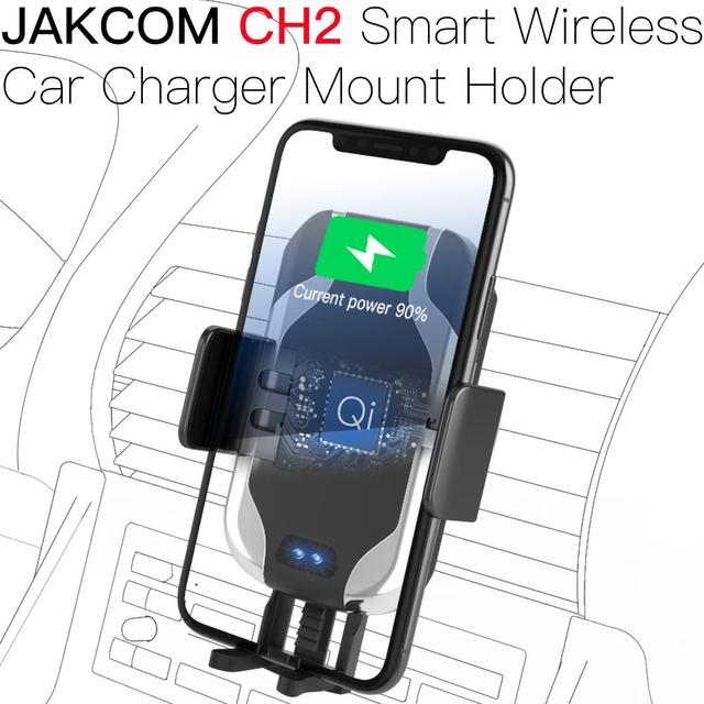 JAKCOM CH2 Smart Wireless Car Charger Holder Hot Sale in Stands As Qi Fast Charging with LED Indicator Stand Accessories