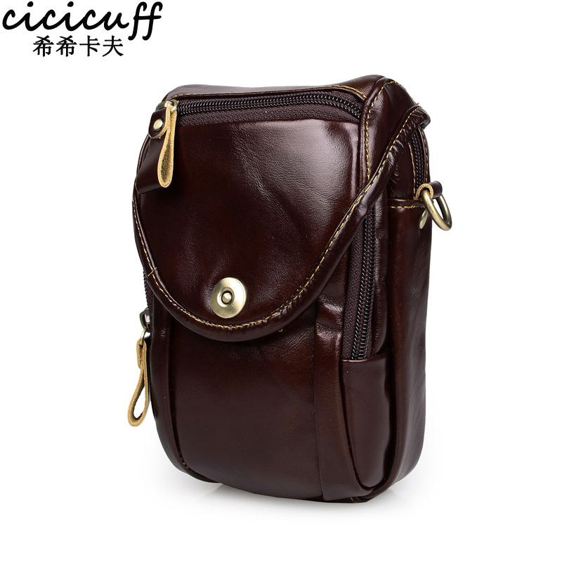 CICICUFF Casual Genuine Leather Men Waist Bag Small Handy Male Pouch Belt Purse Bag Waist Pack Mini Men Shoulder Bag 2018 New cuwhf vintage men s leather purse waist bag black adjusted belt bag man casual waist pack pouch brief design fashion waist bag