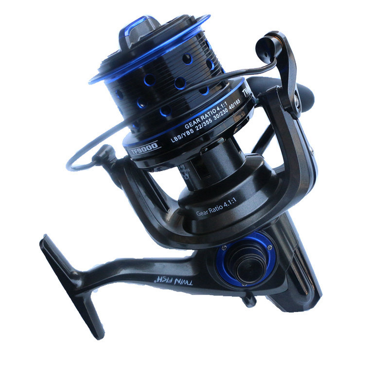 Lunker spinning reel balanced rotor worm shaft gear ratio fishing saltwater fresh water long cast 13+1 bearings