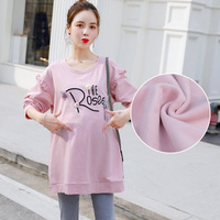 Pregnant Women Loose Casual T Shirt Dress Maternity Autumn Spring Cute cotton Pullover Pregnancy Clothes Plus Size Tops M XXL