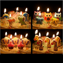 5 pcs/set Cartoon Kid's Birthday Cake/Cupcake Toppers Candle Birthday Cake Candles Party Supplies wedding home Decorations-B