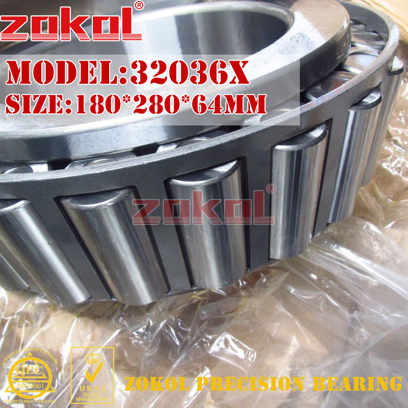 ZOKOL 32036 X bearing 32036X 2007136E Tapered Roller Bearing 180*280*64mmZOKOL 32036 X bearing 32036X 2007136E Tapered Roller Bearing 180*280*64mm