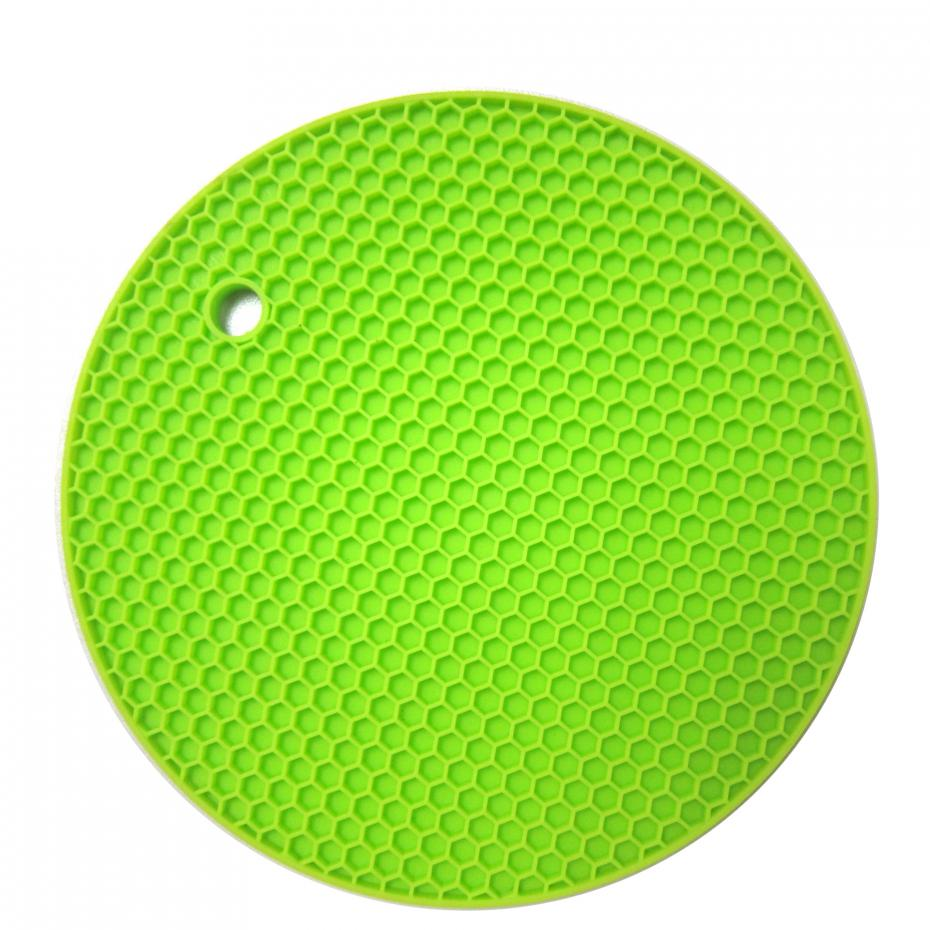 18cm Round Silicone Non-slip Heat Resistant Mat Coaster Cushion Placemat Pot Holder Kitchen Accessories 16
